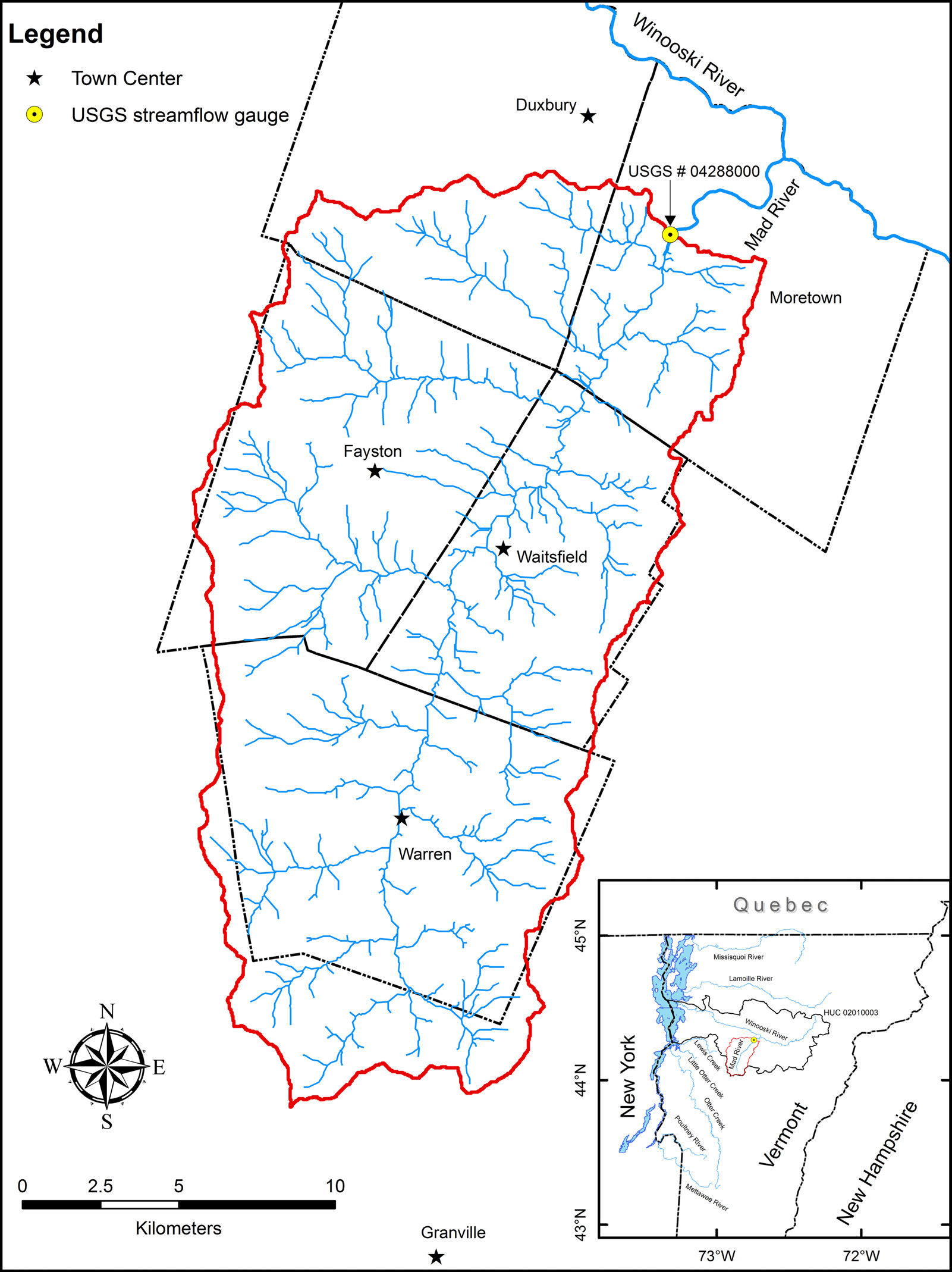 Mad River watershed
